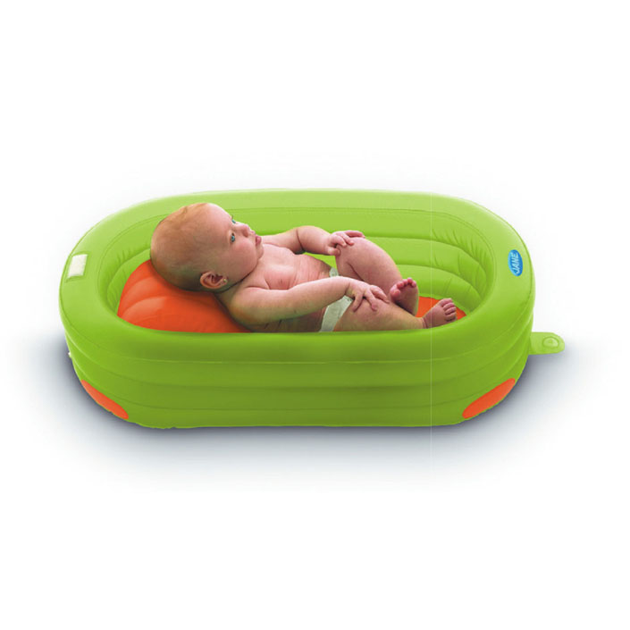 Banera-inflable-para-bebe-color verde