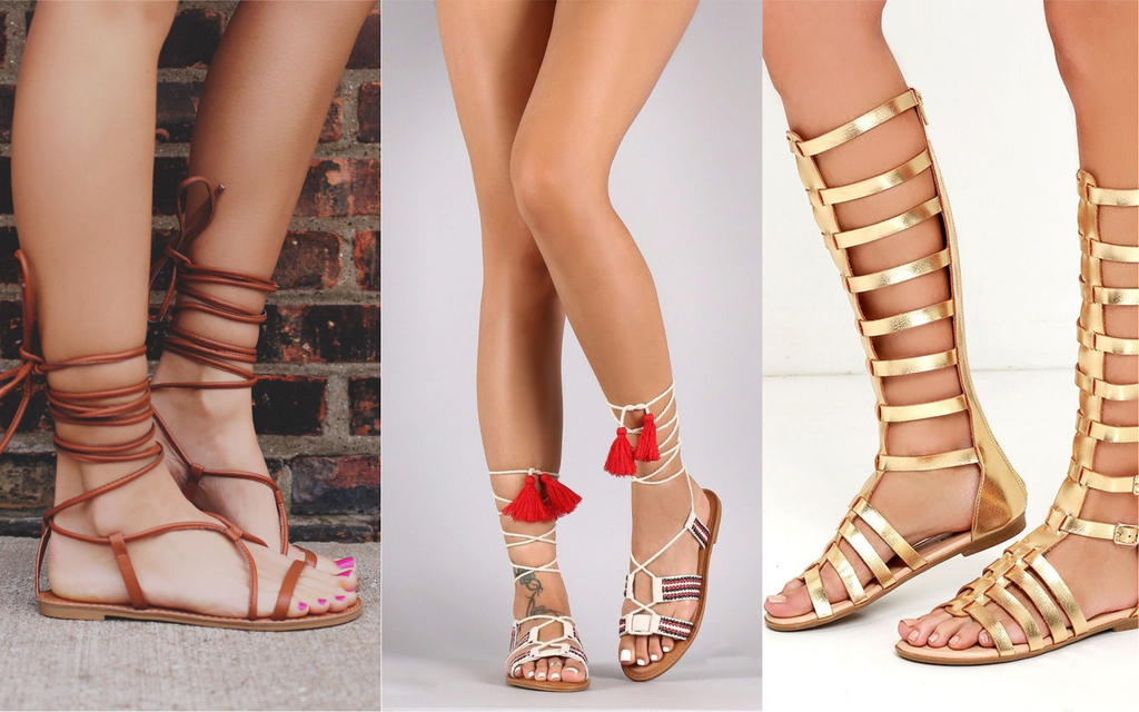 sandalias romanas lace up