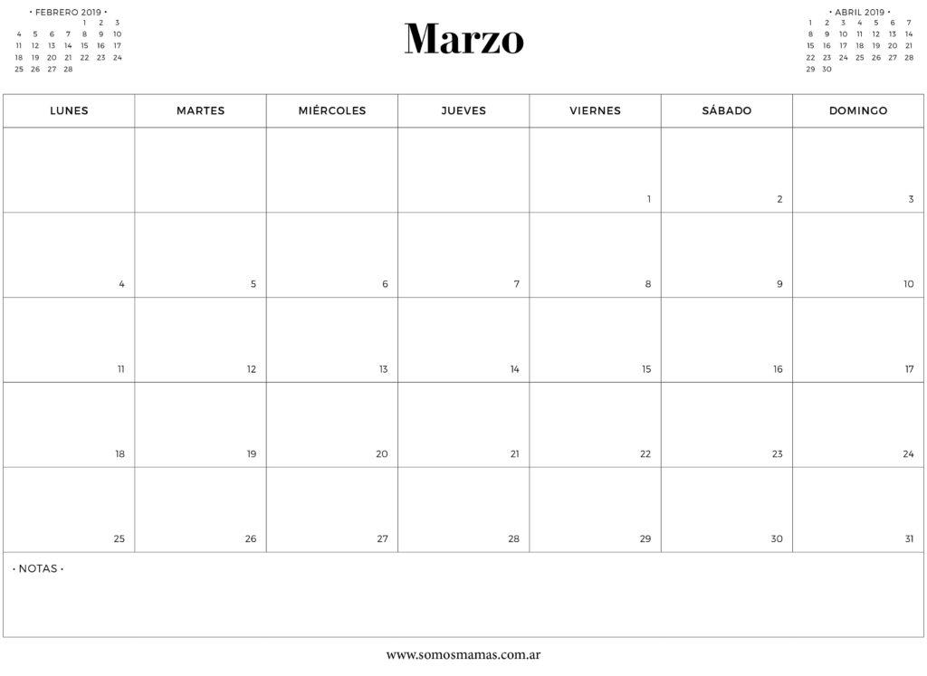 calendario-marzo-2019-para-imprimir-gratis