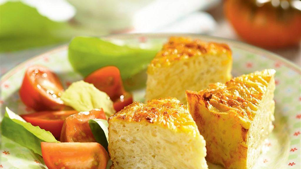 cenas saludables ensalada tortilla al horno