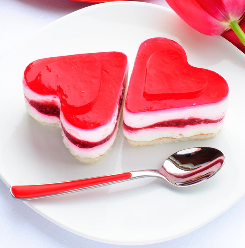 gelatina en formade corazon