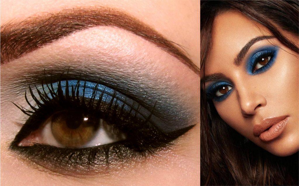 sombras para ojos marrones azul