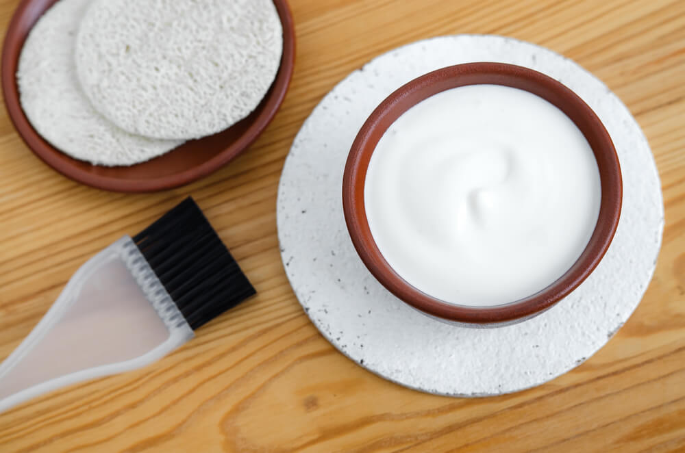 mascarilla de yogur exfoliante