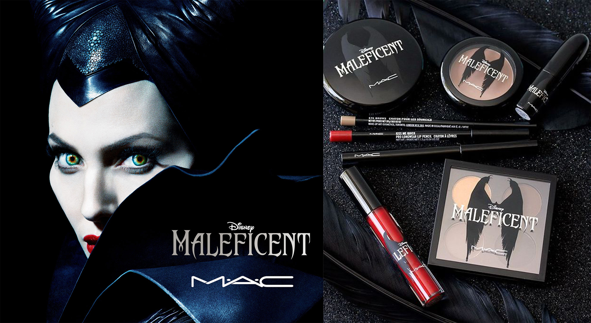 maquillaje mac maleficent